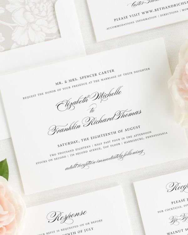 Timeless Elegance Wedding Invitations