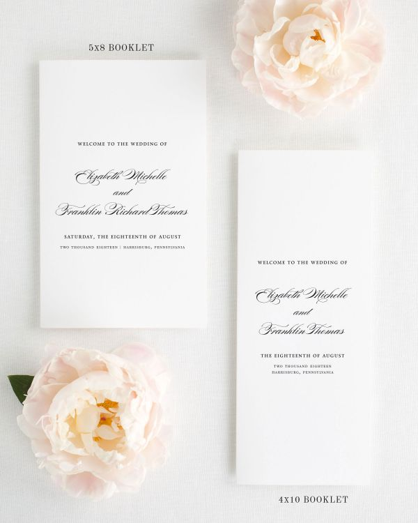 Timeless Elegance Booklet Wedding Programs