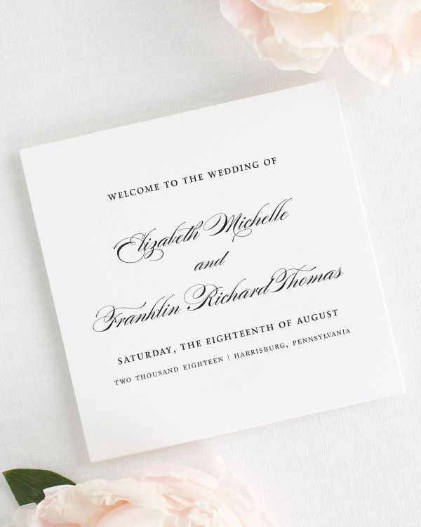 Timeless Elegance Wedding Programs