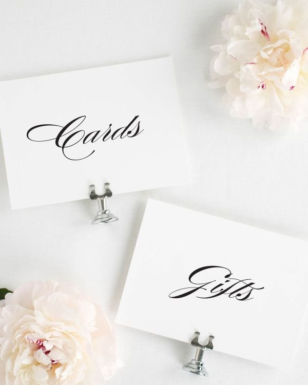 Timeless Elegance Wedding Signs Package