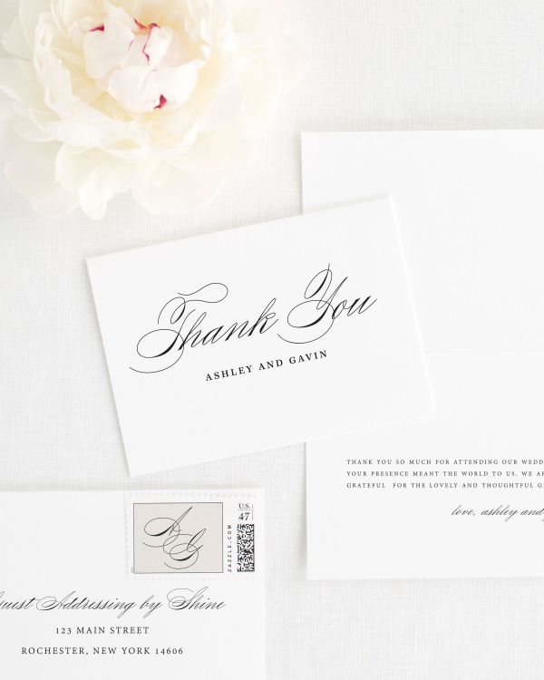 Timeless Script Thank You Cards