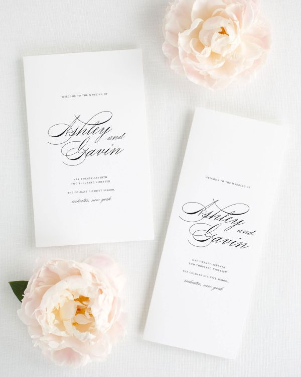Timeless Script Booklet Wedding Programs