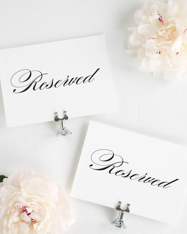 Timeless Elegance Reserved Signs