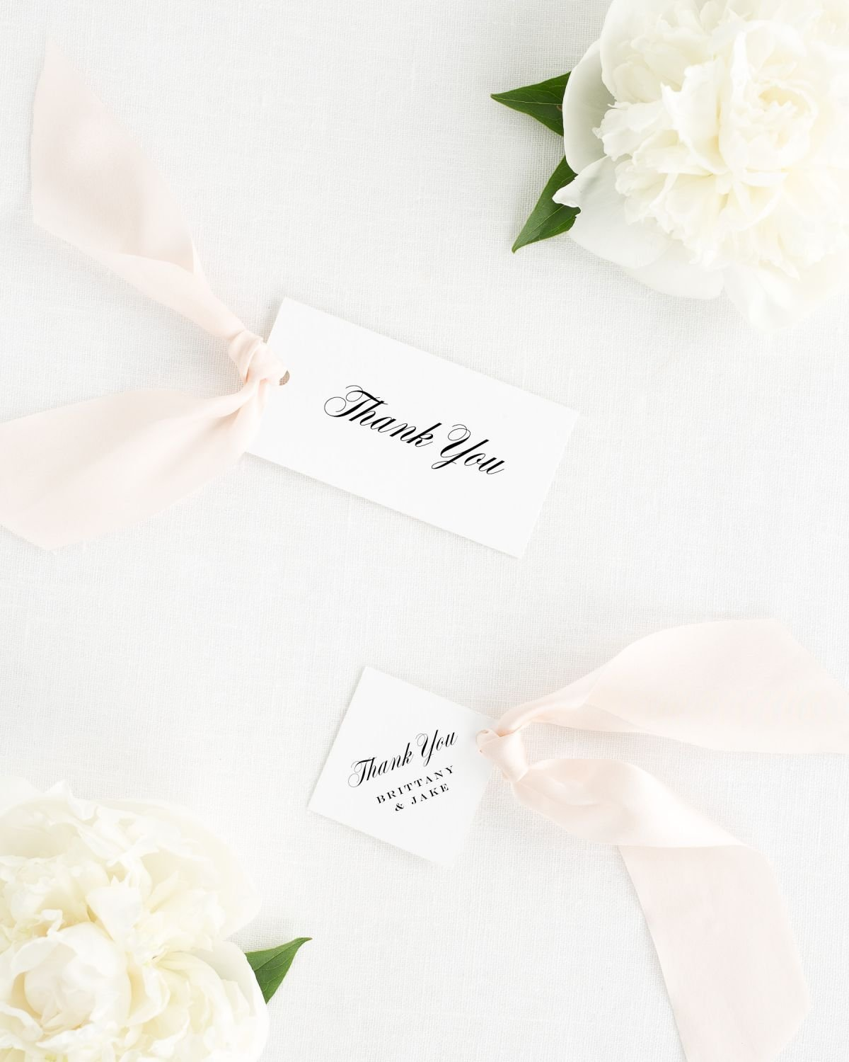 Upscale Monogram Favor Tags Favor Tags By Shine