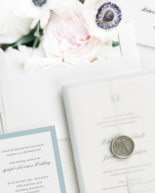 Upscale Monogram Floral Wedding Invitations