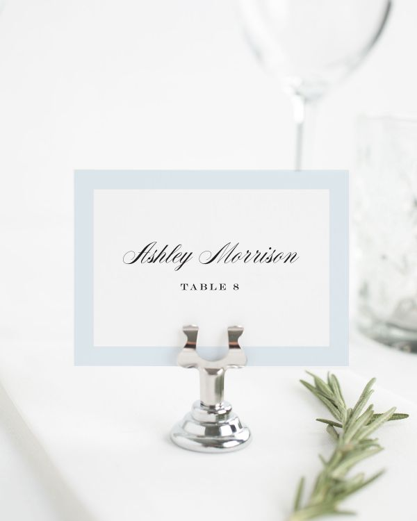 Upscale Monogram Place Cards