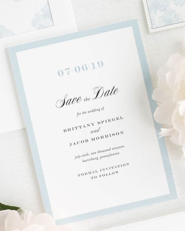 Upscale Monogram Save the Date Cards
