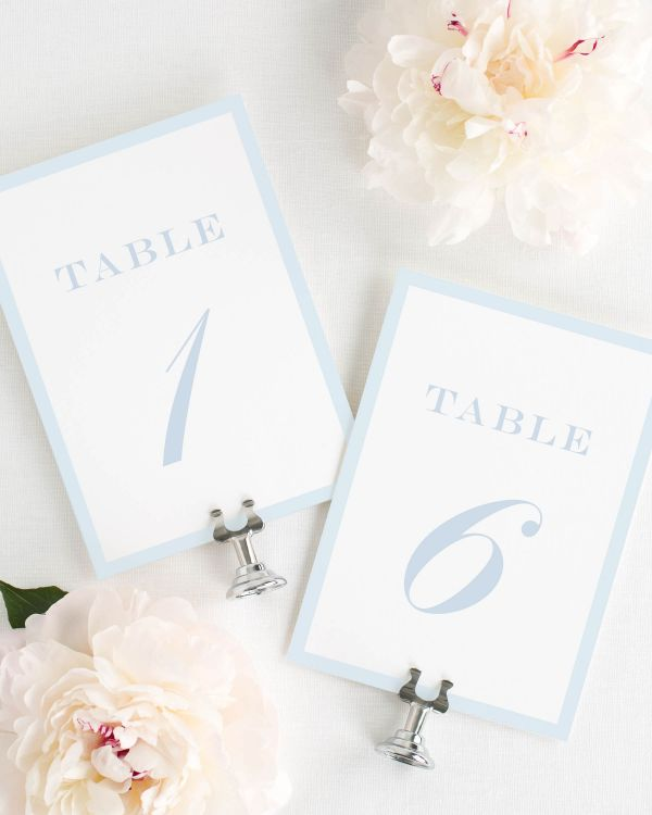 Upscale Monogram Table Numbers