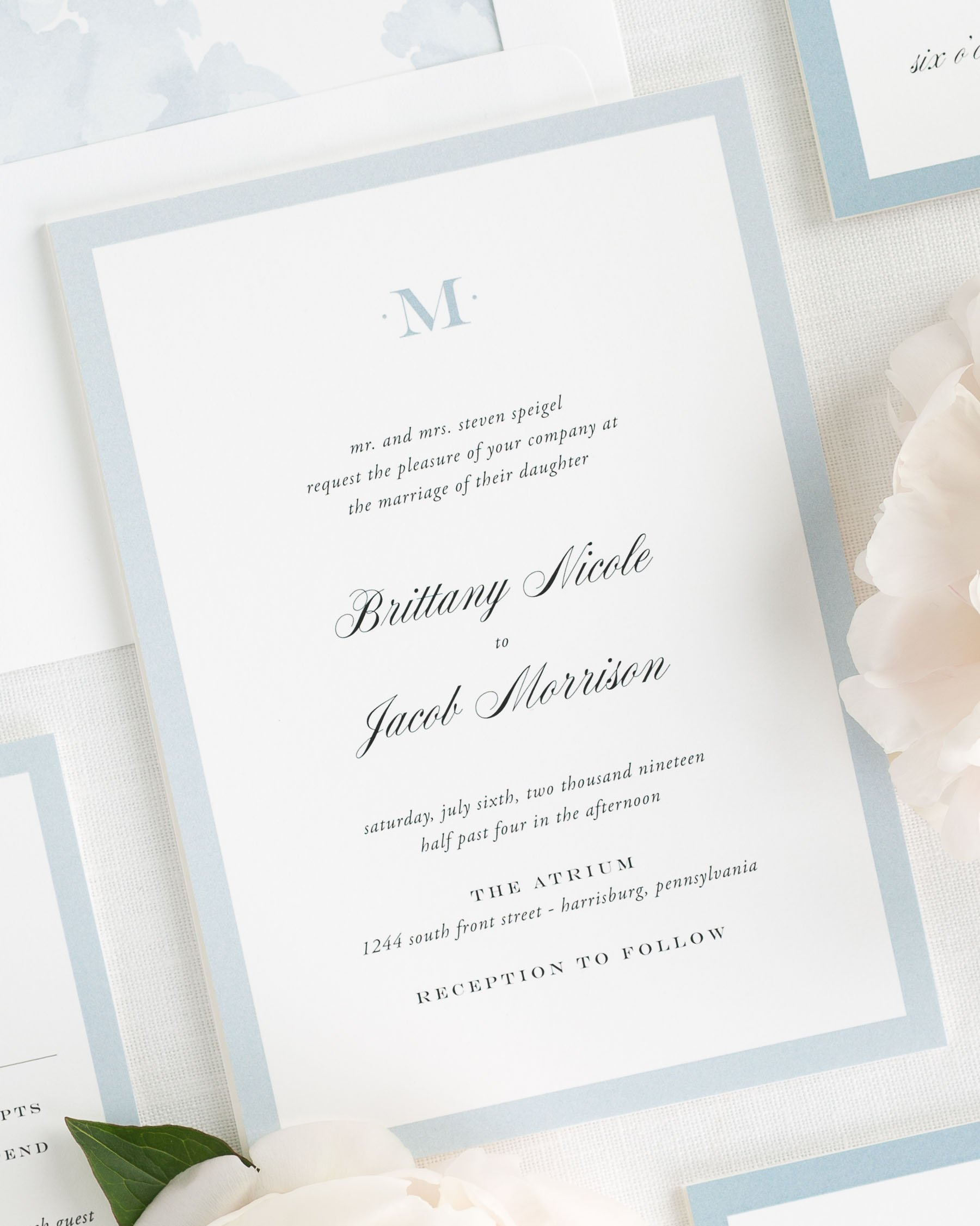 Upscale Monogram Wedding Invitations