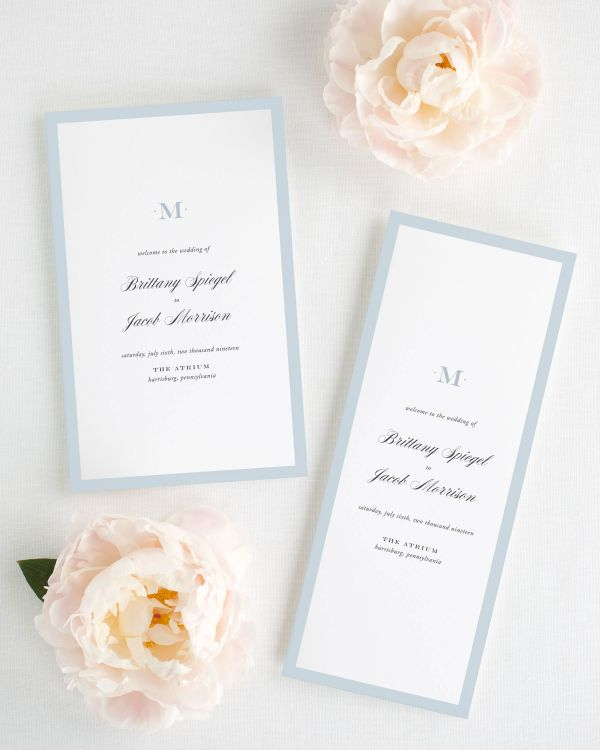 Upscale Monogram Booklet Wedding Programs