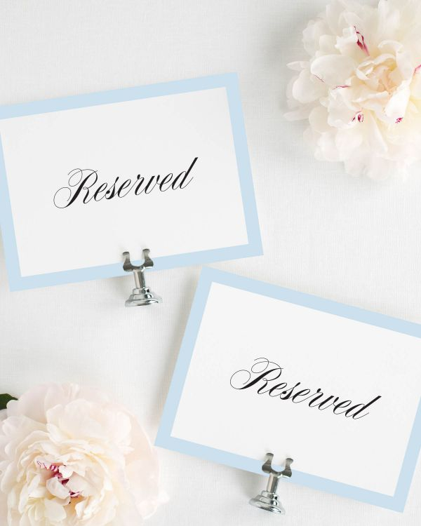 Upscale Monogram Reserved Signs