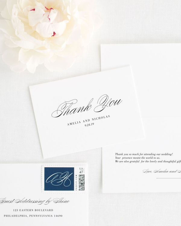 Upscale Script Thank You Cards