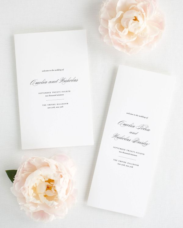 Upscale Script Booklet Wedding Programs
