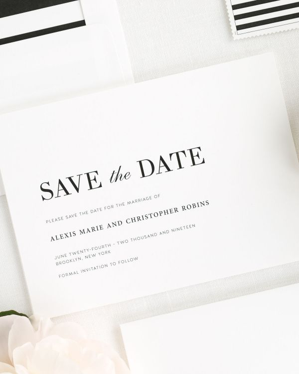 Urban Glamour Save the Date Cards