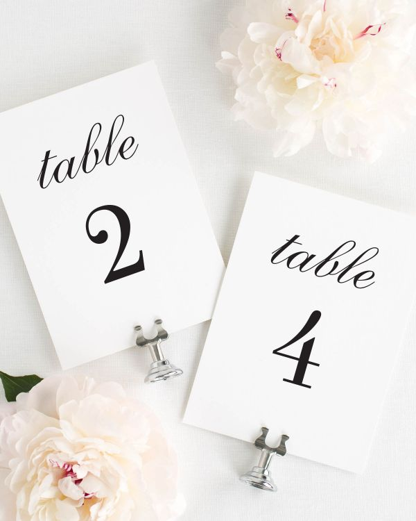 Urban Glamour Table Numbers