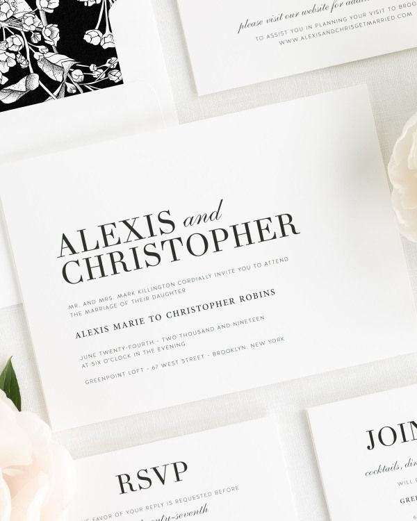 Urban Glamour Wedding Invitations