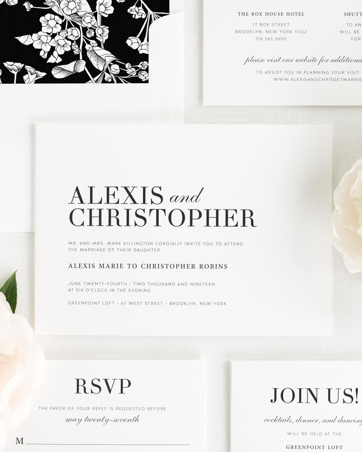 Wedding Invitations with Large Names