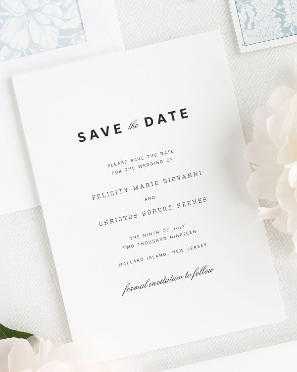 Urban Romance Save the Date Cards