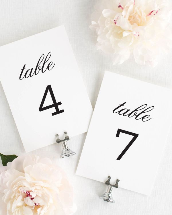 Urban Romance Table Numbers