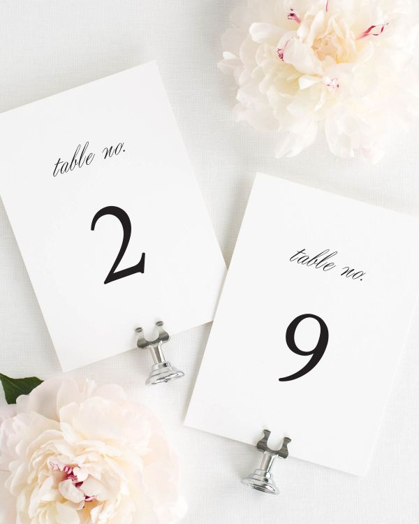Urban Vintage Table Numbers