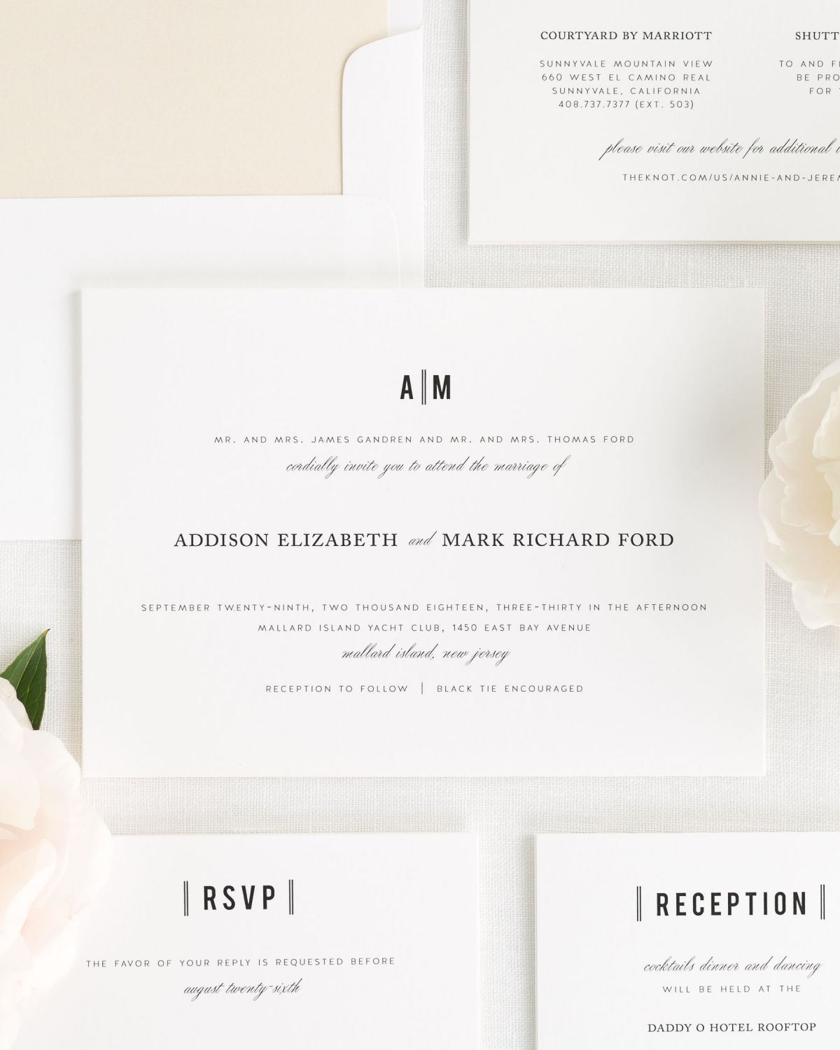 Simple Wedding Invitations with a Monogram