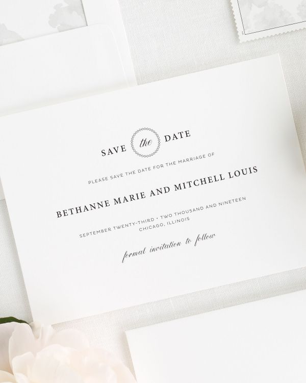 Vintage Elegance Save the Date Cards