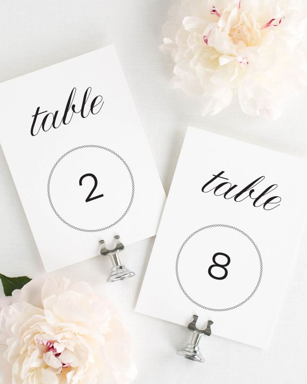 Vintage Elegance Table Numbers