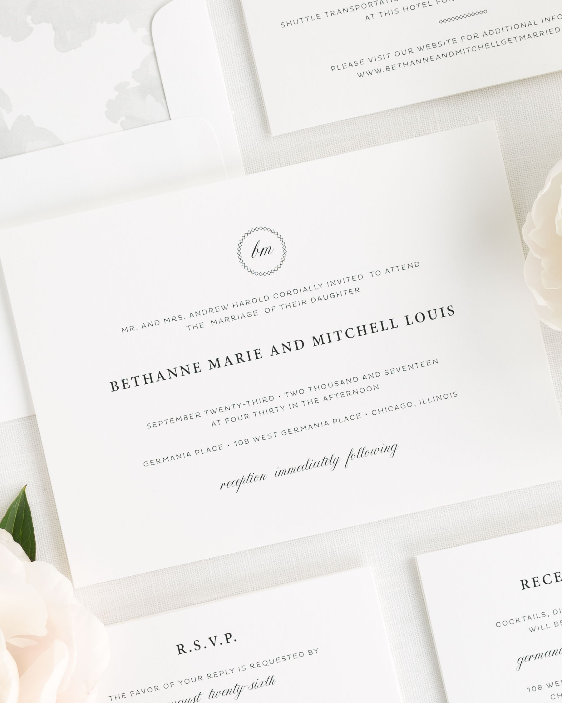 Vintage Elegance Wedding Invitations