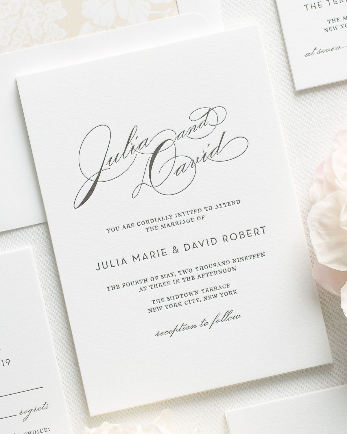 vintage wedding invitations vintage glam letterpress wedding invitations letterpress 8323
