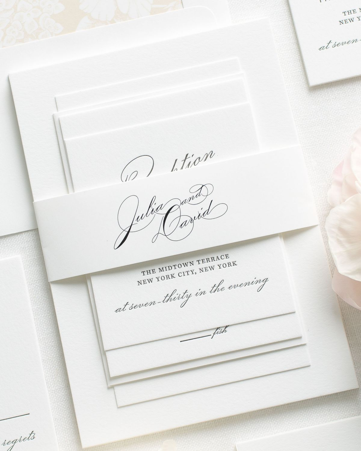 Vintage Glam Letterpress Wedding Invitations - Letterpress Wedding ...