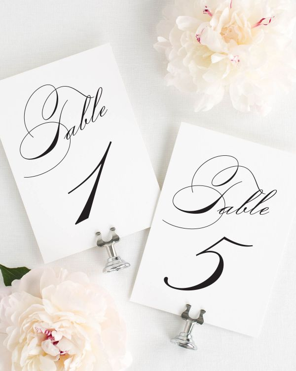 Vintage Glam Table Numbers
