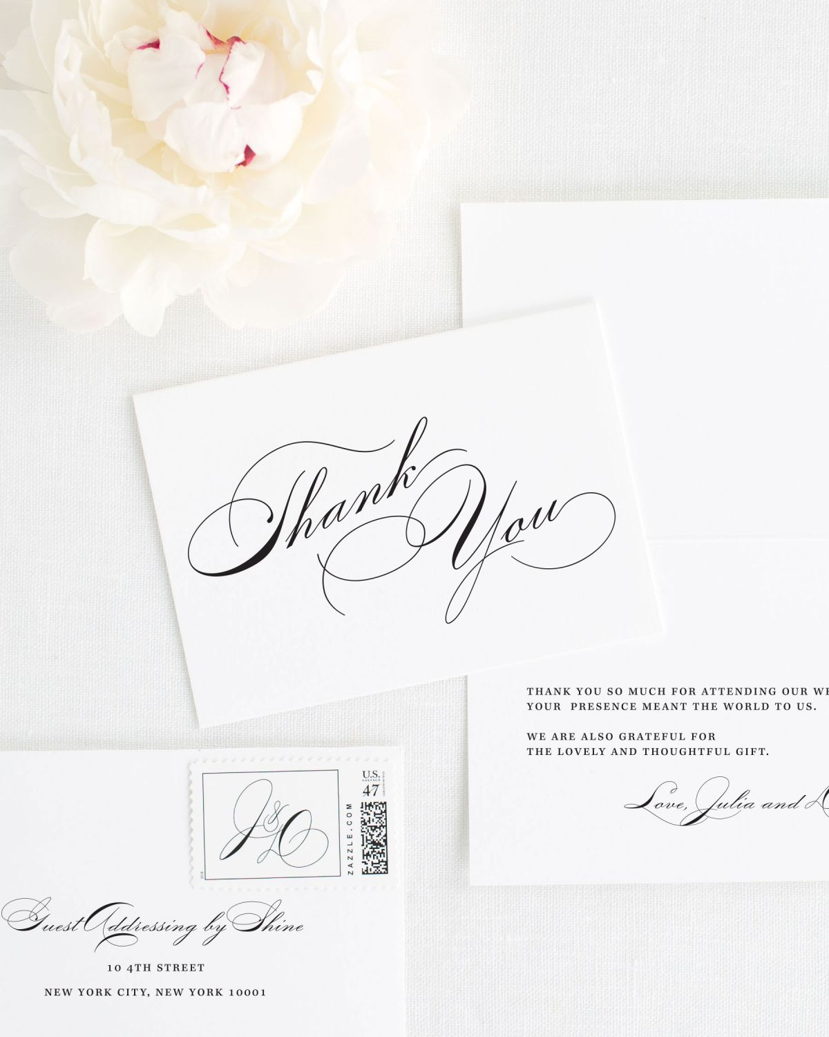 Simple Wedding Thank You Cards