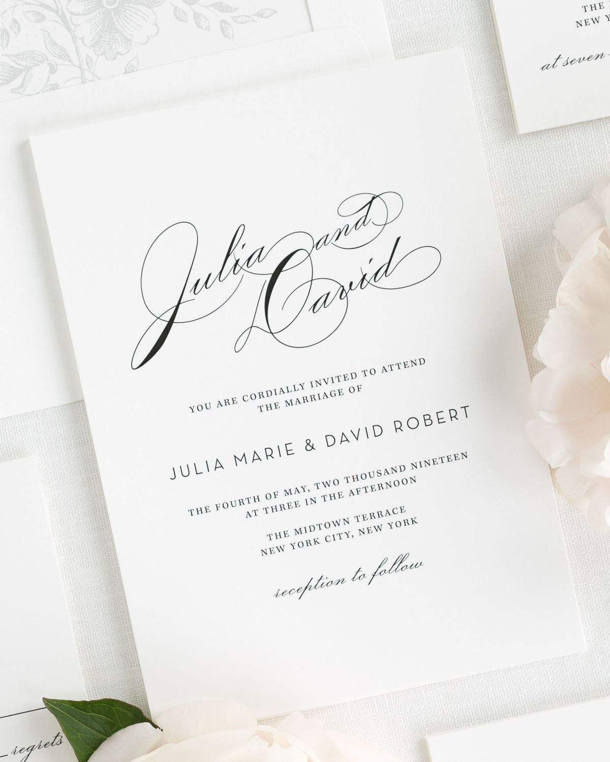 Vintage Glam Wedding Invitations Wedding Invitations by Shine