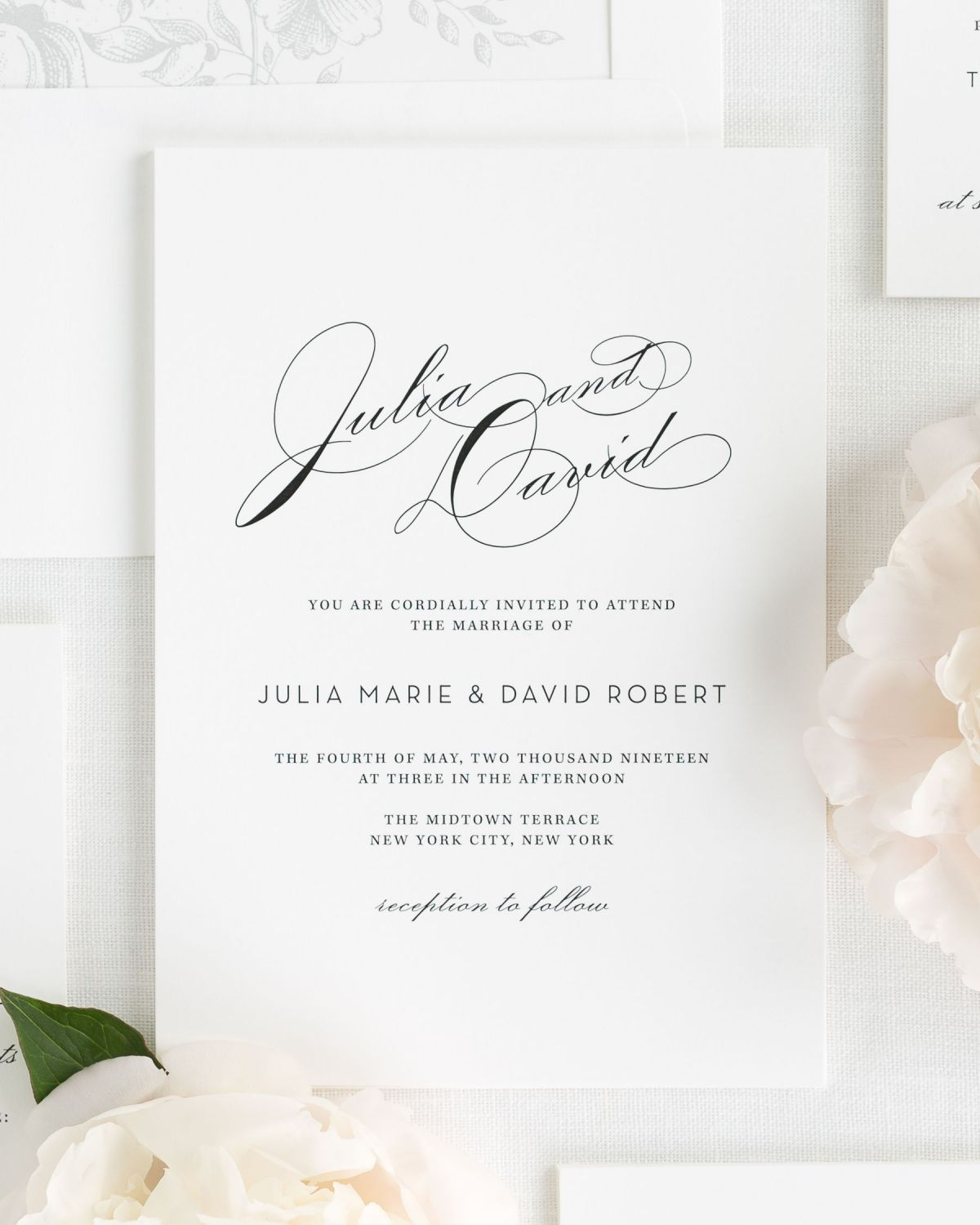 Vintage Wedding Invitations with Big Names