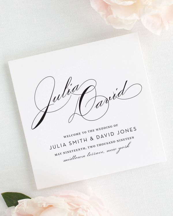 Vintage Glam Wedding Programs