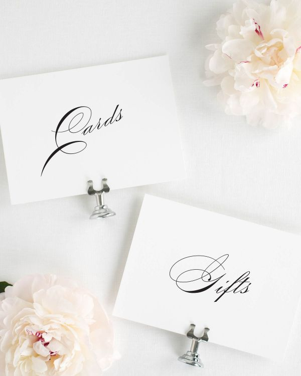 Vintage Glam Wedding Signs Package