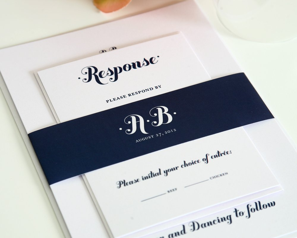 Wedding Invitations in Navy Blue