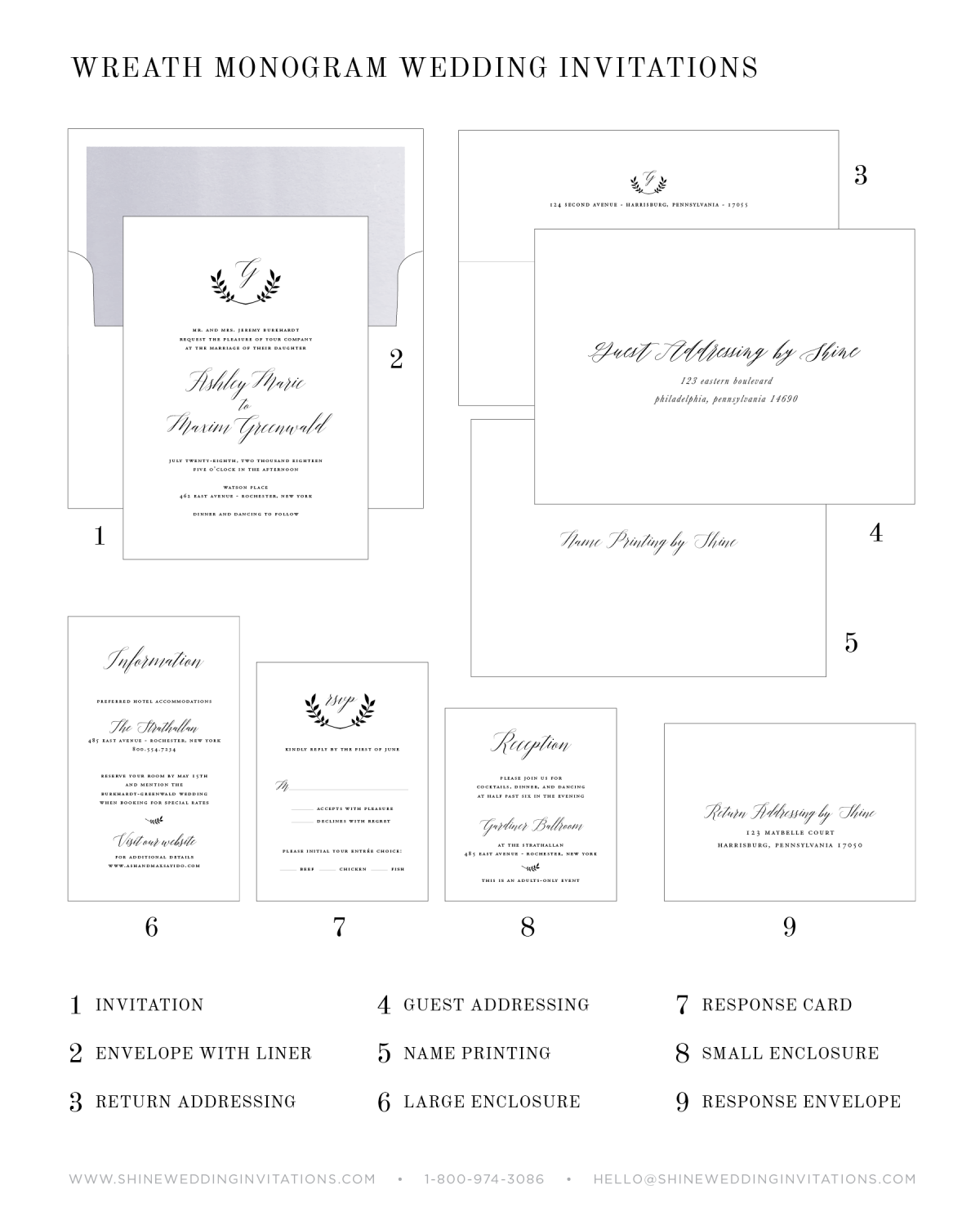 Wedding Invitations Components