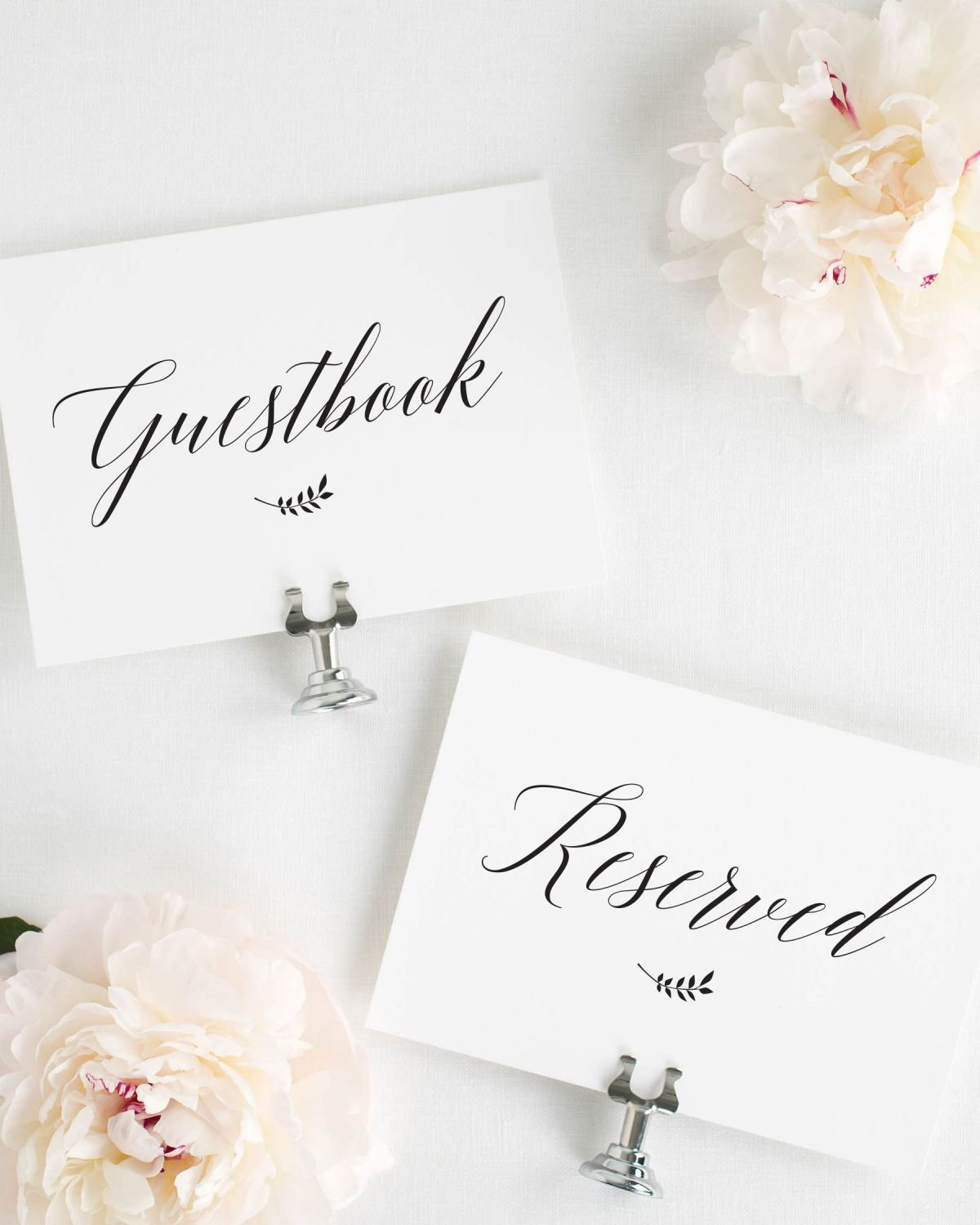 Rustic Wedding Reserved and Guestbook Signs