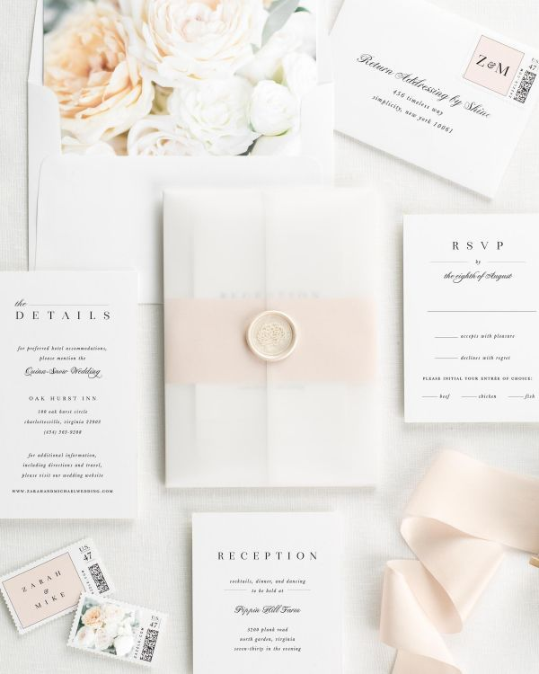 Zarah Floral Wedding Invitations