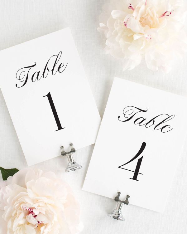 Zarah Table Numbers