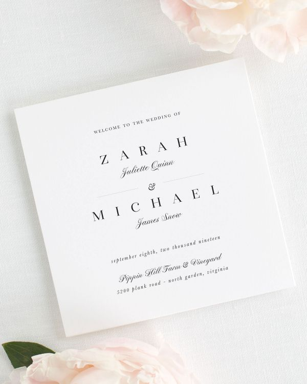 Zarah Wedding Programs