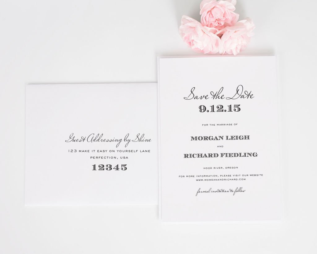 Antique Vintage Save the Dates with Addressing