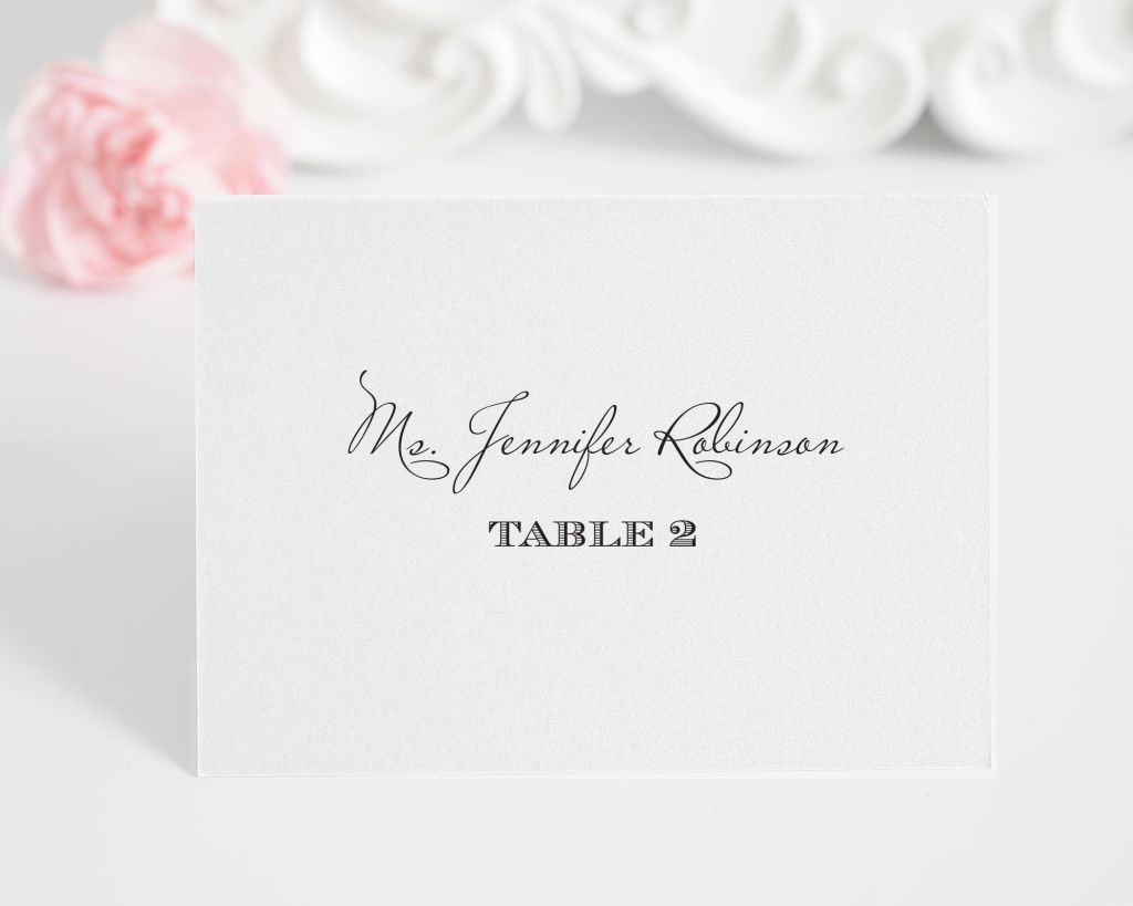 Vintage Place Cards with Unique Script