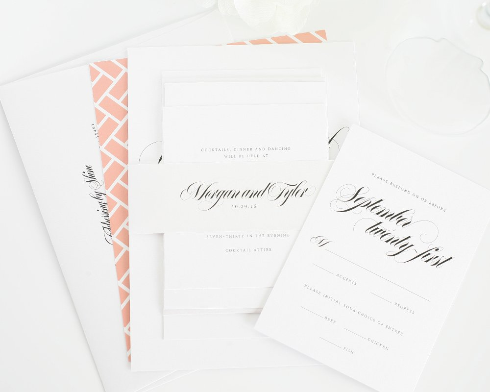 best wedding invitations in peach