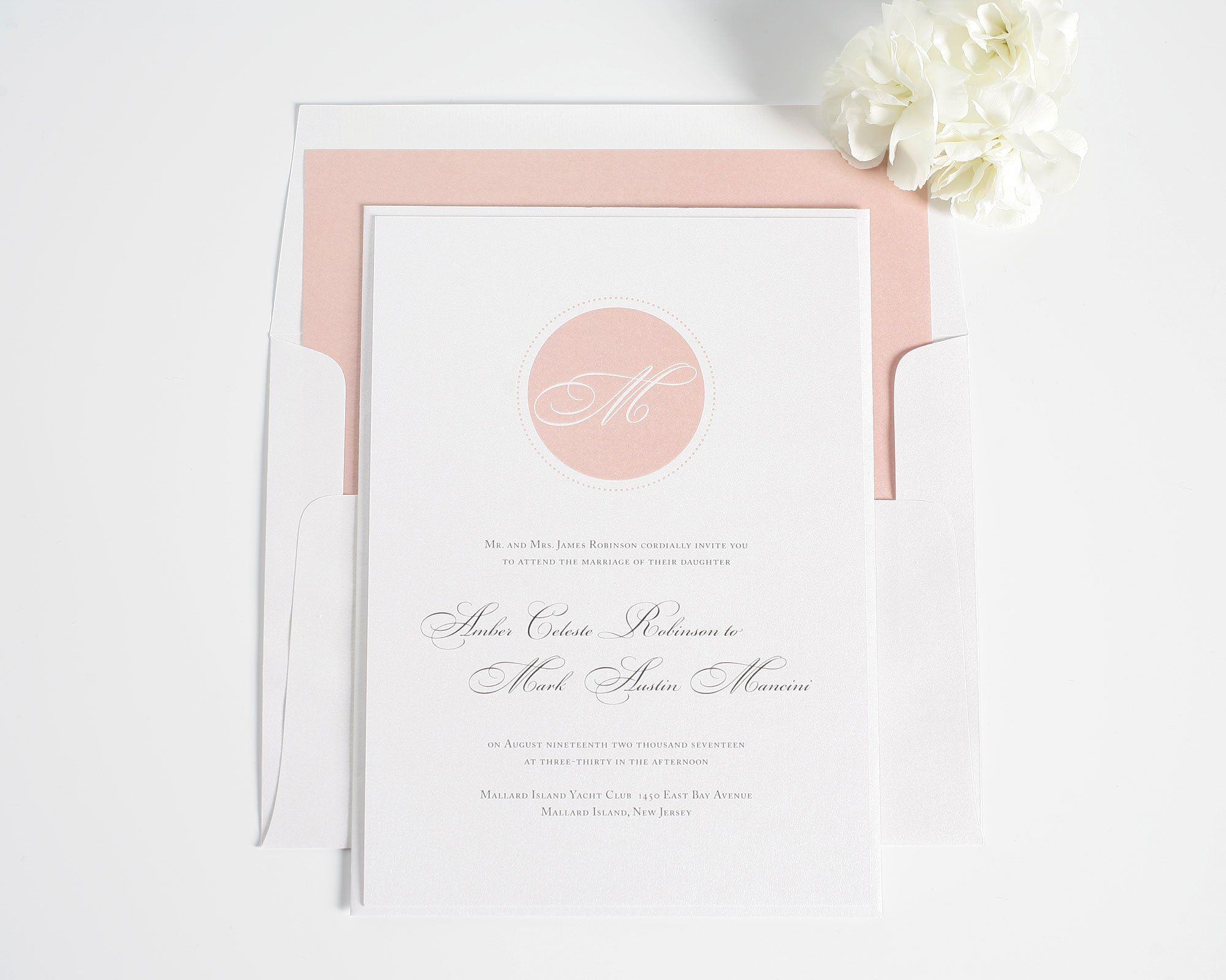 Circle Monogram Wedding Invitations Wedding Invitations by Shine