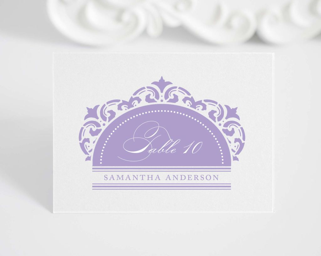 California Damask Place Cards