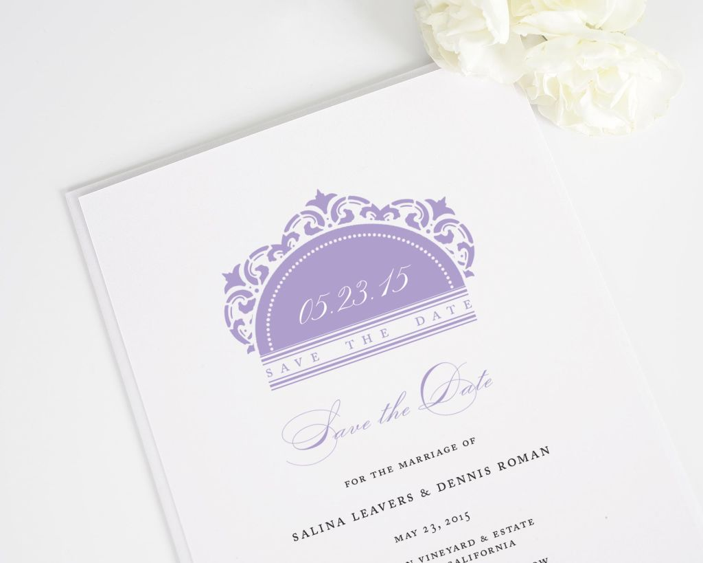 California Damask Save the Date Cards