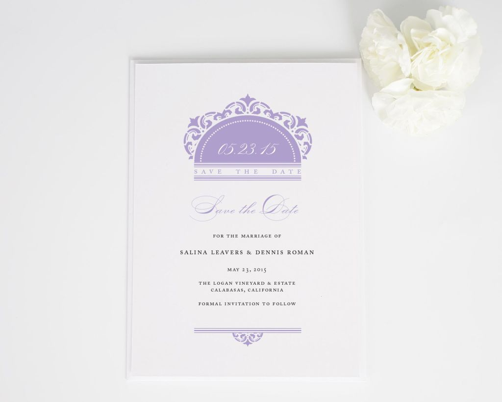 California Damask Save the Dates