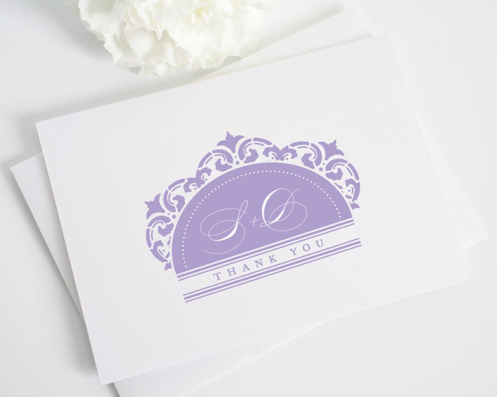 California Damask Thank You Card